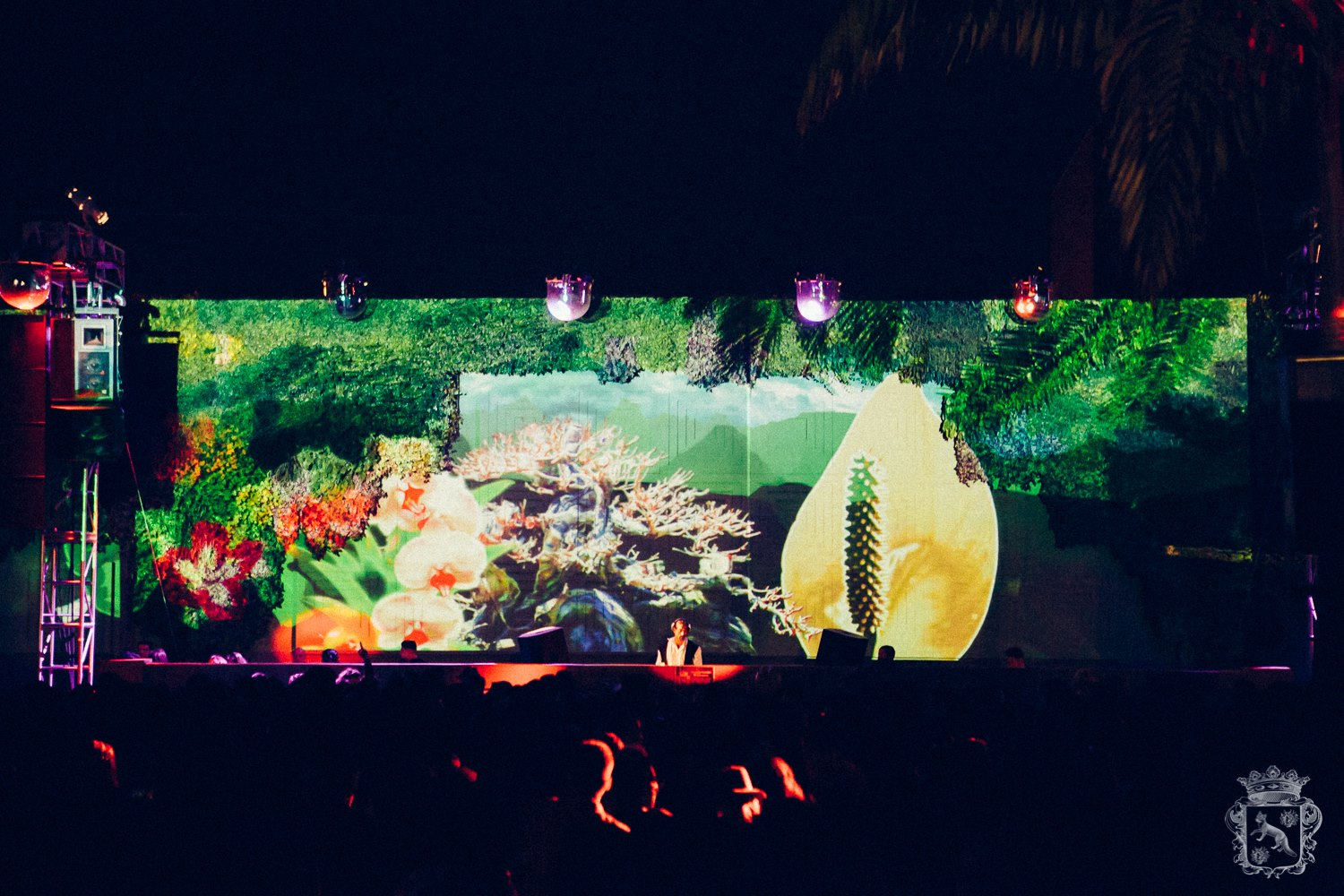 Brooklyn Mirage Projection Mapped